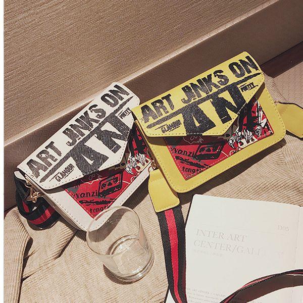 Brand Designer Crossbody Bags Fashion Handbag Men Women Shoulder Bag Popular Graffiti Cross body Leather Messenger Bag Totes Wallet