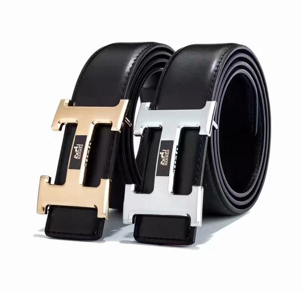 Fashion Big large buckle genuine leather belt designer belts men women high quality new Black belt luxury belt free shipping