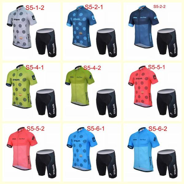 2019 STRAVA Equipe Ciclismo Jersey Set Mountain Bike Roupas de Ciclismo Homens de Verão Roupas de Corrida de bicicleta Ropa ciclismo MTB Sportswear C203