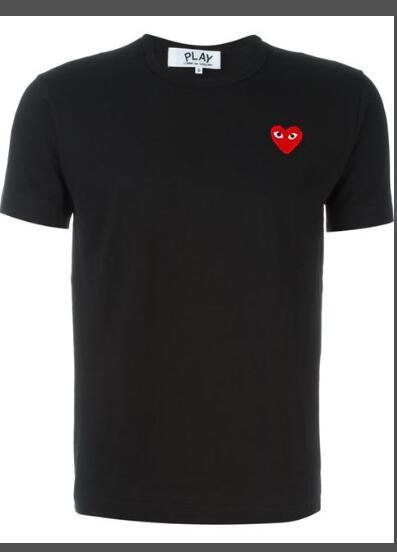 CDG JOGUE emparelham t-shirts de desenhadores de homem com t-shirts de campanha em forma de coração com vetements brancos Pablo t-shirts de camuflagem no summe