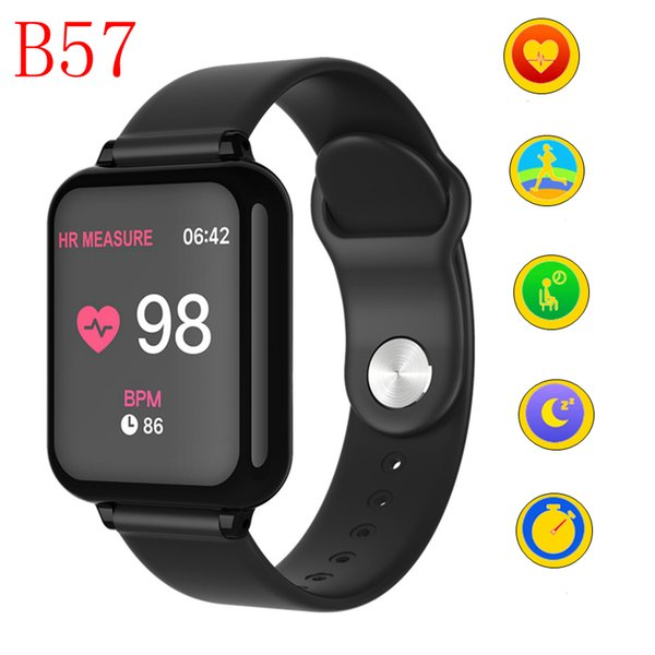 B57 Women Men Fitness Tracker Smart watches Waterproof Sport For IOS Android phone Smartwatch Heart Rate Monitor Blood Pressure Functions
