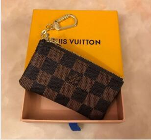 2019 KEY POUCH Damier canvas holds high quality famous classical designer women key holder coin purse small leer with gift louis box bag