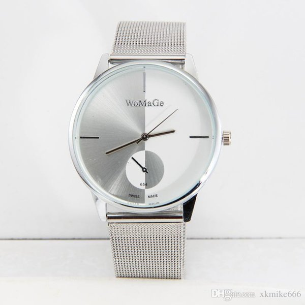 New type of steel strip table Yin and Yang fashion network with male watch personality quartz watch