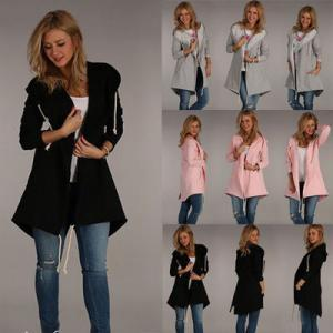 Long Sleeve Pocket Cardigan Outwear Woman Trench Warm Winter Coats Fashion Drawstring Casual Jackets Overcoat TTA139