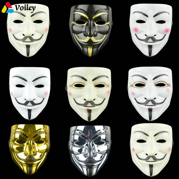 1 Pcs 8 Style Halloween Party Masks V for Vendetta Mask Anonymous Guy Fawkes Fancy Adult Costume Accessory Party Cosplay Masks,7
