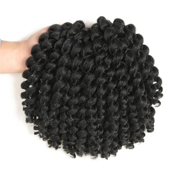 8Inch Jumpy Wand Curl Jamaican Bounce Synthetic Braiding Hair Extension Crochet Braid Hair For Any Woman