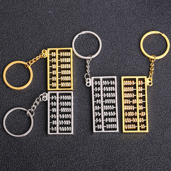 Metal 8-Gear 6-gear Abacus Keychain Creative Car key pendant business advertising Promotion small Gifts wholesale