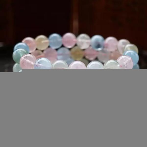 Natürliche Kristallchakren Armband Schmuck Schwarz Karneol Clear Carter Morganite Stein Armbänder Perlen Stretchy Bileklik Pulseras