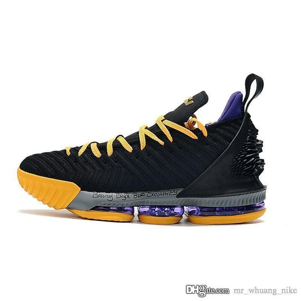 Mens lebron 16 basketball shoes Black Lion Yellow Gum Redmix SuperBron Blue Gold Black White youth kids new lebrons sneakers tennis with box