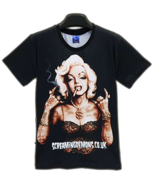 614d4d52bdcf Newest Styles Vogue T shirts Sexy Marilyn Monroe T-shirt For Men/Women  clothing