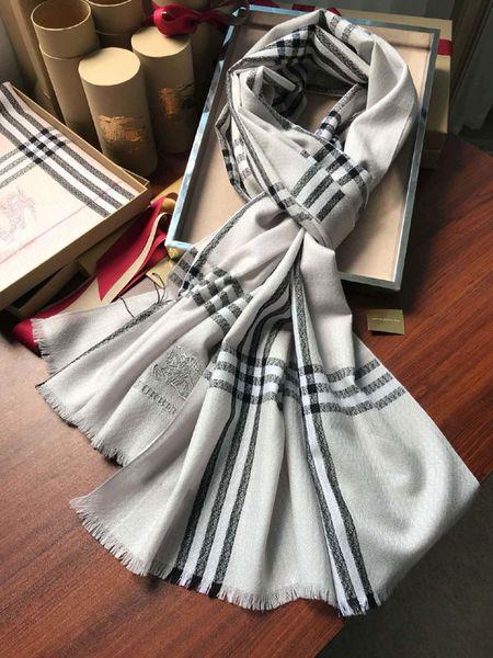 Роскошный дизайнерский шарф модный бренд шерстяной шарф шелковая шерсть пряжа-окрашенный Боевой конь плед шарф, мужские и женские шарфы 220*70 см B3501
