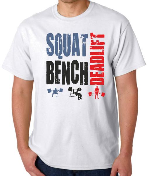 Squat Bench Deadlift T Shirt Weightlifting Body Building T Shirt Fitness Gym Tee Tees Custom Jersey t shirt hoodie hip hop t-shirt