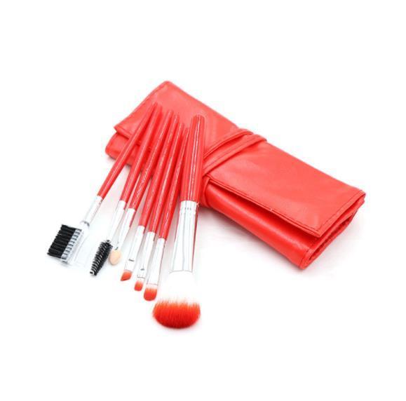COLOR 7pcs/Set Foundation Makeup Brushes Eyeshadow Powder Eyebrow Eyeliner Make Up Brush Set Professional Cosmetic Tools Kit CZ114