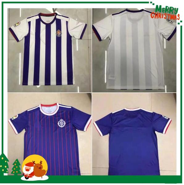 19 20 camisas de futebol Real Valladolid Tailândia KIT 2019 2020 Real Valladolid casa longe Jaime Mata Michel Borja luismi camisas de futebol