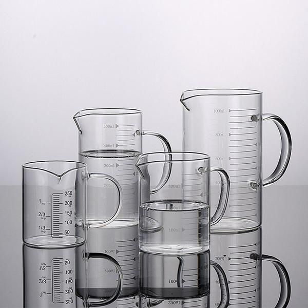 Высокое качество сгущает взрывозащищенные стеклянные мерные стаканы жаропрочных и морозостойких кухонных выпечки чашки инструмент для молочной воды