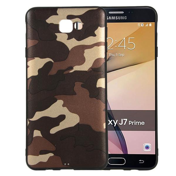 Camouflage Slim-Fit Anti-Scratch ShockProof Flexible TPU Gel soft Case for SAMSUNG GALAXY J7 PRIME On7 2016 J5 2016 J510