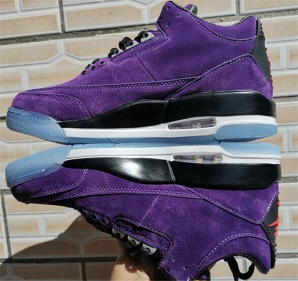 Nova Chegada 3 III Roxo Preto Mens Basketball Shoes Top Quality 3 s Preto Vermelho Ao Ar Livre Calçados Esportivos Tamanho US7-13