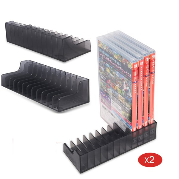 2 Pcs Game Card Box Storage Stand CD Disk Holder For Nintend Switch NS Nintendos Game Cartridge CD Disk Support 24 Pcs Card