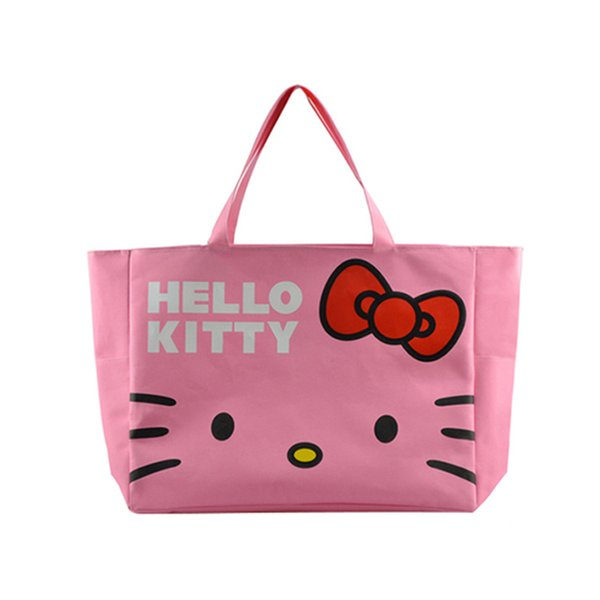 Foldable Cute Handbags Girl Women Travel Organizer Hello Kitty Shoulder Eco Shopper Beach Bags Accessories supplies products Lot