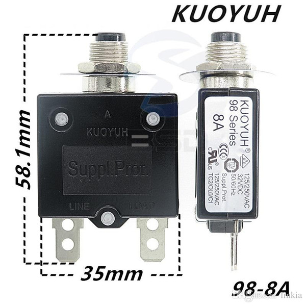 best selling Taiwan KUOYUH 98 Series-8A Overcurrent Protector Overload Switch