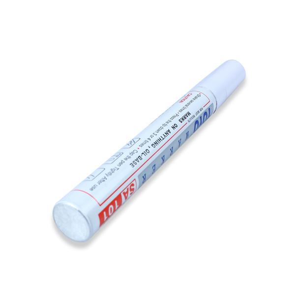 Étanche marqueur marqueur pneu bande de roulement caoutchouc permanent marqueur non décoloration peinture stylo blanc couleur peut marque sur la plupart des surfaces