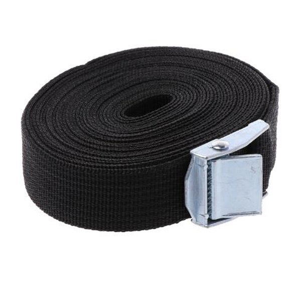 YG 2pcs 5M*25mm Car Tension Rope Tie Down Strap Strong Ratchet Belt Luggage Bag Cargo Lashing With Metal Buckle