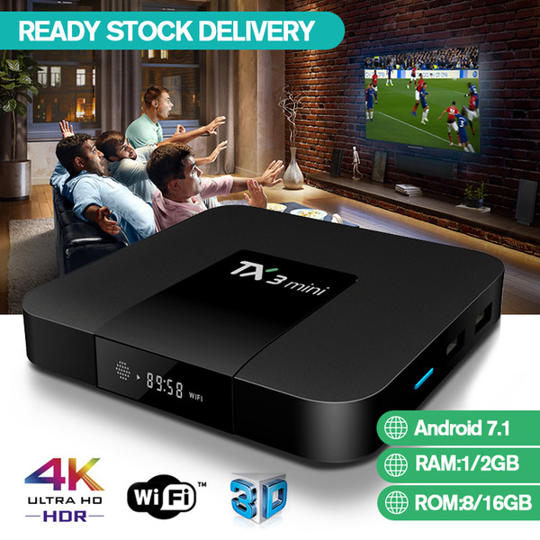 top popular TX3 Mini TV Box With 1 Month IPTV Subscription Experience UK Sports Android 7.1 Support Wifi H.265 VS MXQ Pro 2019