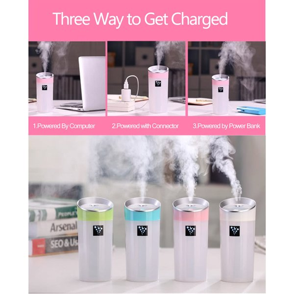 Mini Car Air Humidifier Essential Portable USB Oil Diffuser Aromatherapy Humidifiers Aroma Mist Maker for Home Office