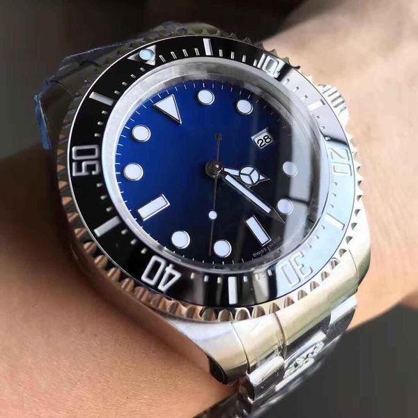 Luxury Watch AR Factory 904L Steel Black Blue Dial 44mm Swiss 3135 Movement Ceramic Bezel Mens Automatic Watch