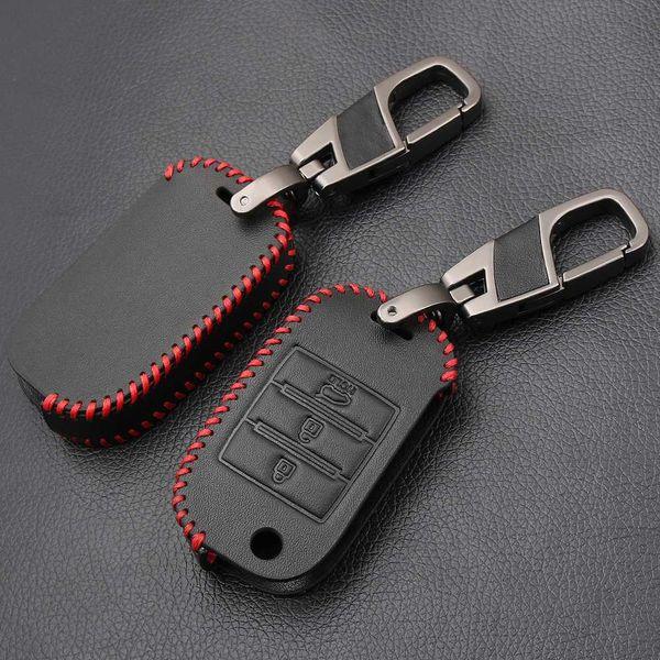 Leather Remote Key Case Cover For Kia Rio K2 Sportage 2017 2018 Cerato K3 Optima K5 Ceed Sorento Soul Forte Sportage R 2011-2015
