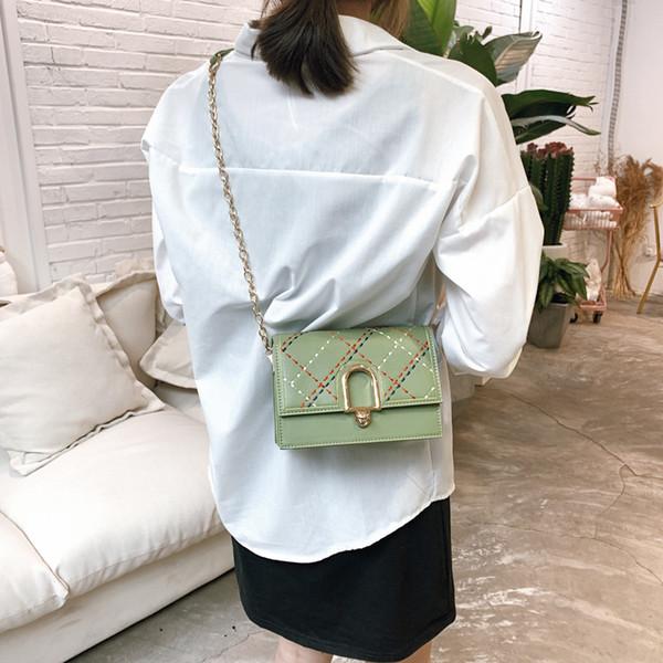 Small Women Bag Summer Women's Leather Bag Sale Shoulder Messenger Bags Yellow White Embossed Female Girls Flap Hard Chain Brand