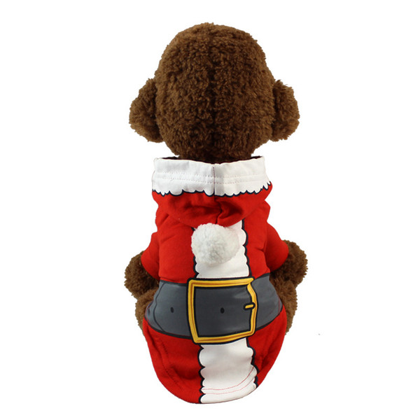 Christmas and Halloween Dog Clothe Gift Hooded Pet Cat Vest t Cartoon Costume Clothing t shirt Jumpsuit Outfit pet supply DHL Free