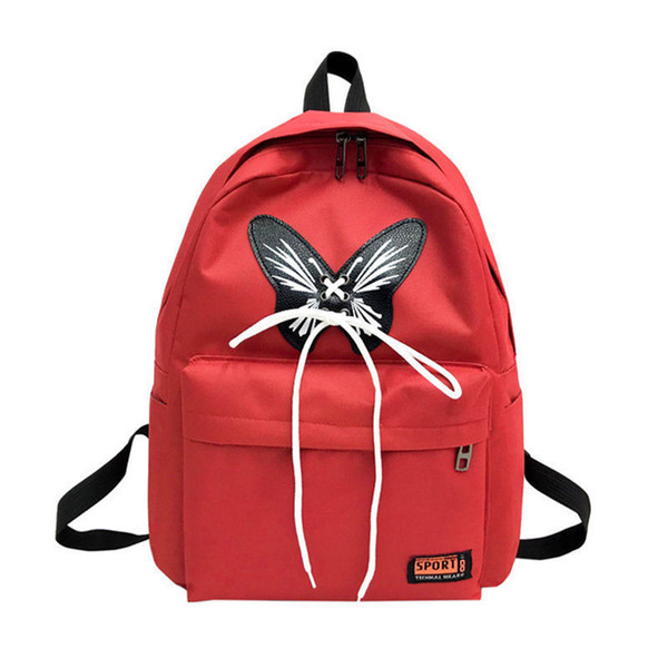 New Arrival Canvas Backpack For Teenager Girls Butterfly Bow Women School Knapsack Fashion Travel Backpacks Casual Shoulder Bags