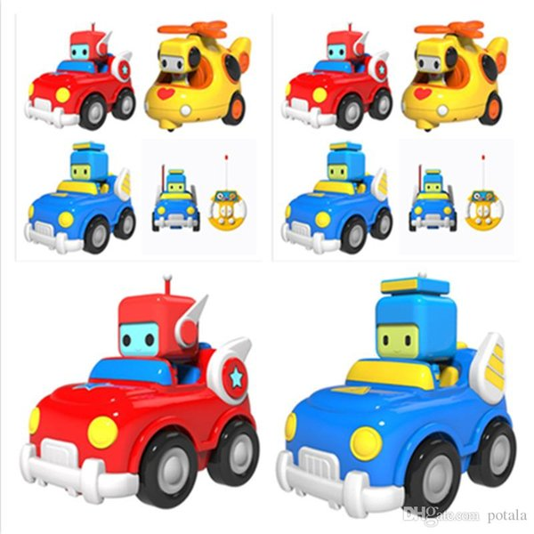 RC Cars Mini Cartoon Astronaut Remote Control Race Car building blocks Music&Light Children Educational Toy Christmas Gift For Kids Baby