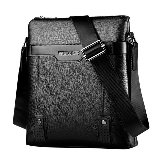 2019 New Fashion Men Briefcase Bag Leather Men's Crossbody Bags Business Soft Synthetic Leather Messenger Shoulder Bag For Men MX190719