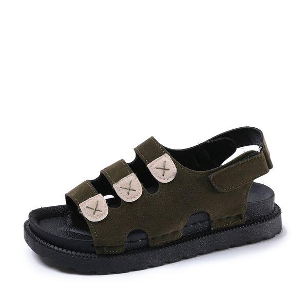 2019 Big Size Women's Sandals Summer British Fashion Suede Leather Beach Shoes Women Massage Non-Slip Large Slippers Flats