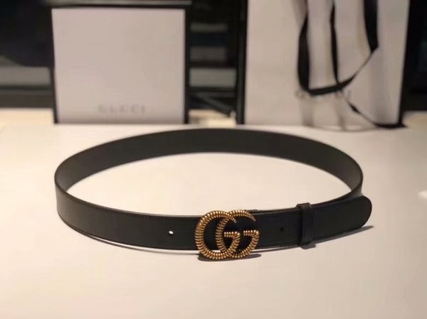 Hot 2019 Neue klassische Schwarz Luxus Hohe Qualität ceinture Designer Gürtel Mode große perle schnalle gürtel herren frauen