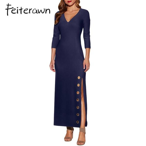 Vestiti Eleganti Con Spacco.Acquista Feiterawn Women Fashion Gommino Con Spacco Laterale