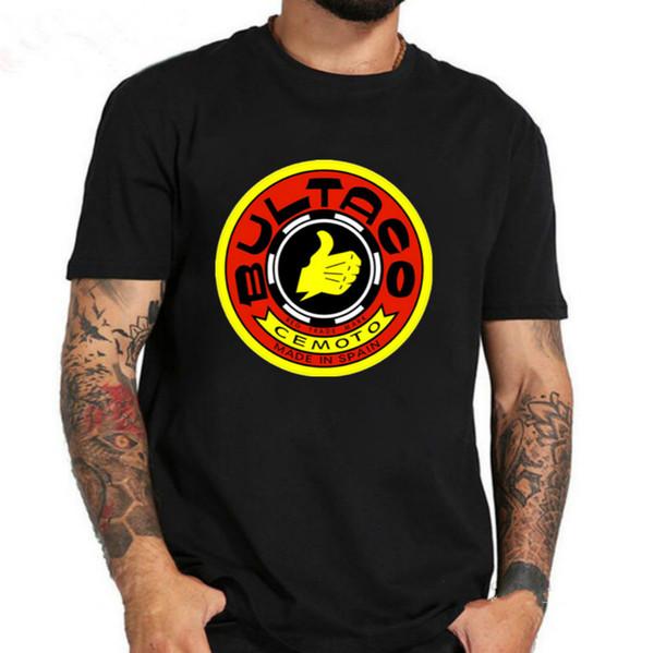 T-shirt dos homens do logotipo das motocicletas de Bultaco Cemoto