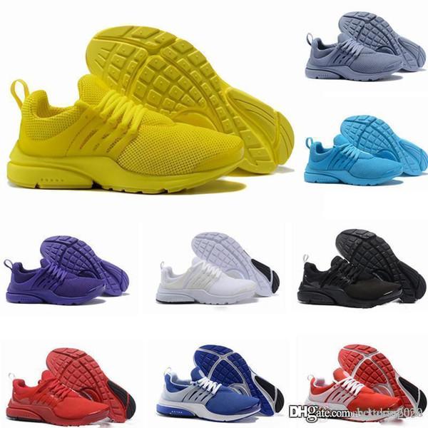 2018 Nueva PRESTO BR QS Breathe zapatos para hombre Blanco Negro Amarillo prestos zapatillas de deporte de las mujeres, los zapatos corrientes para el zapato Hombres Deportes, Corta zapatos de diseño