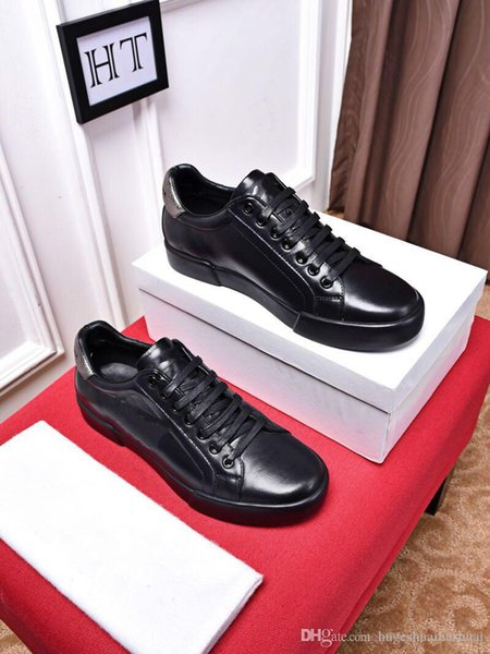 2018 New Designer Name Brand Man Casual Shoes Flat Fashion Wrinkled Leather Lace-up Low Cut Trainers Runaway Arena Shoes 36-44 160601