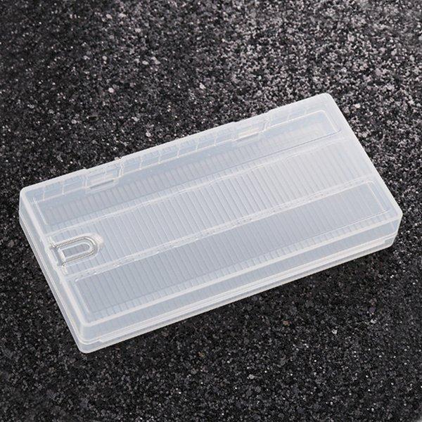 8 pcs 18650 cas de la batterie boîtier en plastique de stockage de protection translucide cas forts avec crochet pour 8 * 18650 batteries DHL gratuit