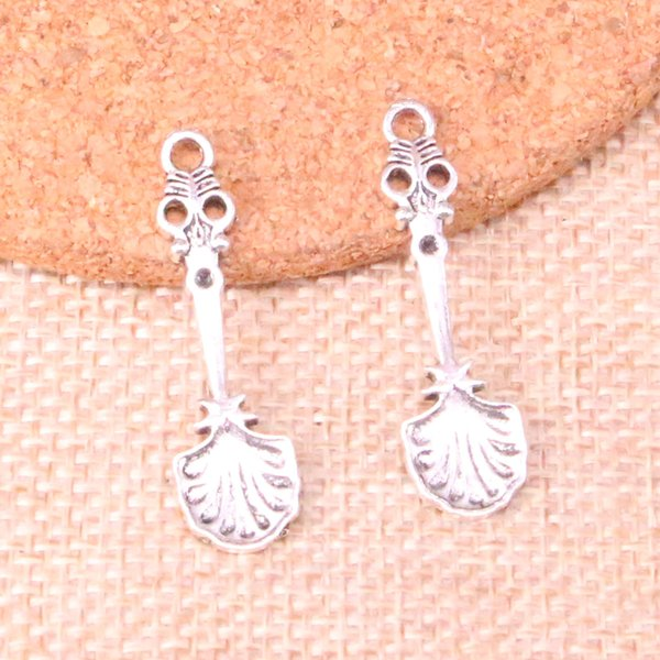 123pcs Charms kitchen spoon Antique Silver Plated Pendants Fit Jewelry Making Findings Accessories 33*8mm