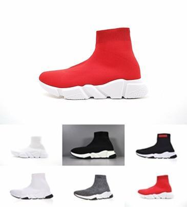 Balenciaga triple s New Speed Trainer Scarpe casual nero bianco rosso glitter Flat Fashion Socks Sneakers fashion Trainers Runner taglia 36-45