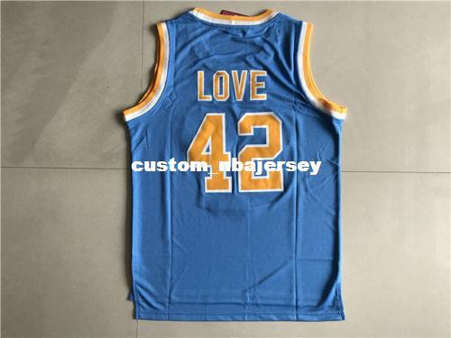 Cheap custom Kevin Love #42 Blue Men's UCLA Stitched Sewn Basketball Jerseys Stitch customize any number name MEN WOMEN YOUTH XS-5XL
