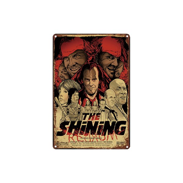 classic retro vintage The shining movie film Tin Sign outdoor Wall Art decoration Bar Metal Paintings