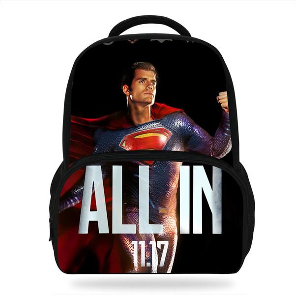 Nueva mochila de dibujos animados de Shazam DC Heroes de 14 pulgadas que imprime mochilas para niños para niñas Estudiantes populares Mochila escolar