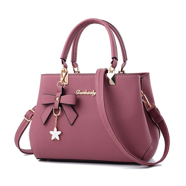 de761f777ccd good quality 2019 Elegant Shoulder Bag Women Designer Luxury Handbags Women  Bags Plum Bow Sweet Messenger Crossbody Bag Women