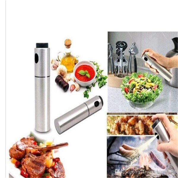 New Stainless Steel Olive Pump Spraying Bottle Sprayer Can Oil Jar Pot Tool 20189011802