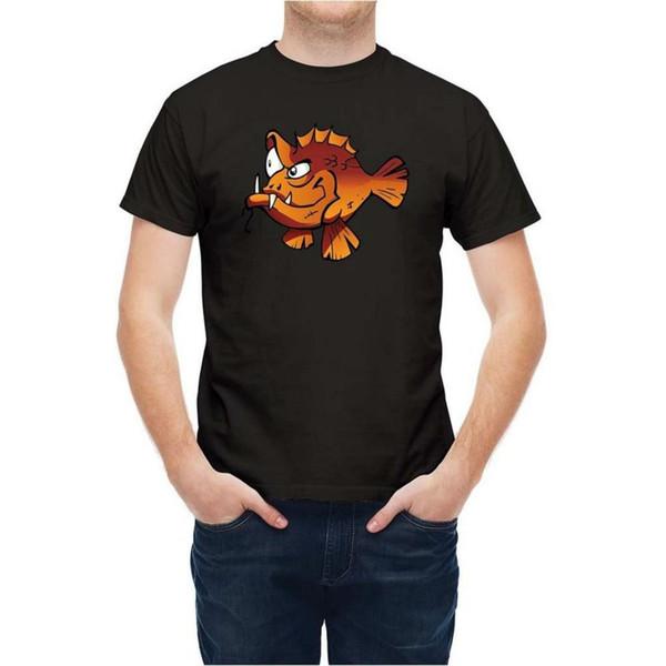 Dusky Piranha Pesci del fumetto maglietta unisex Nuovo T Moda